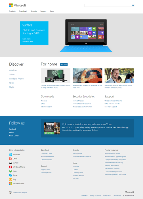 Microsoft Home Page - Devices and Services