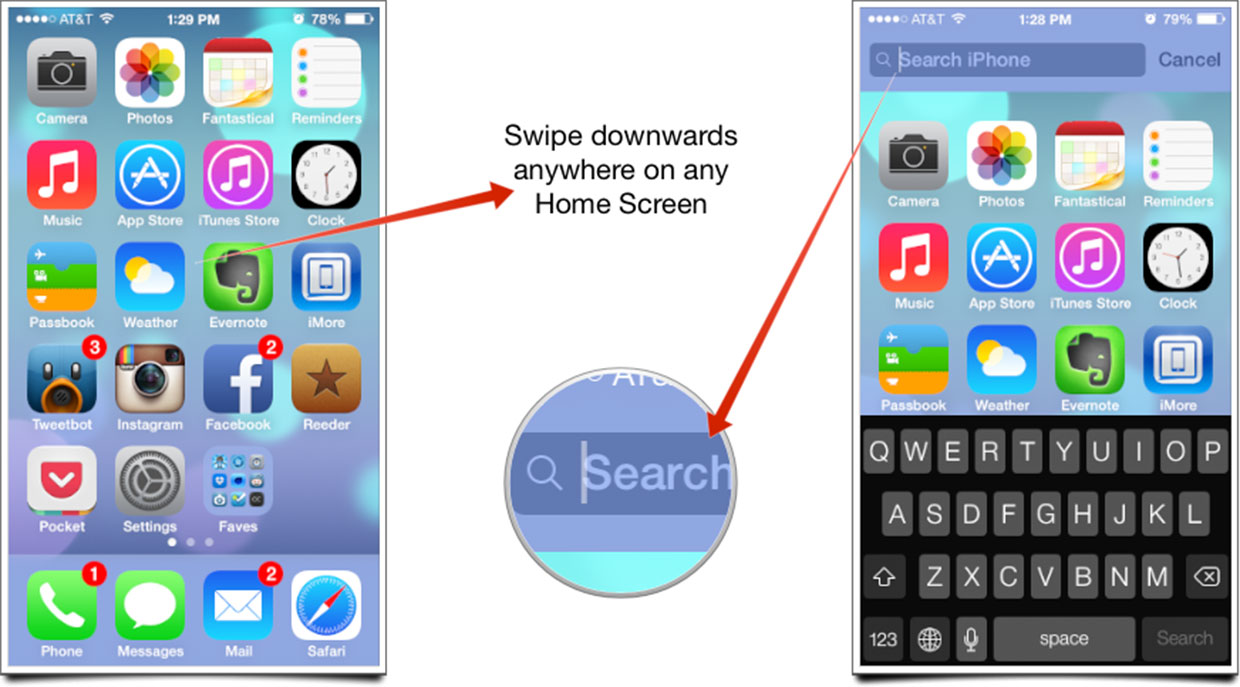 how to disable spotlight search ios 7
